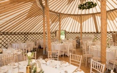 42ft Yurt Interior, Wedding furnishing not inc.