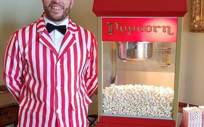 Popcorn cart service