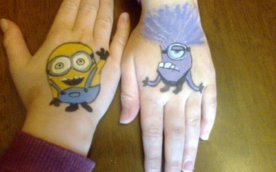 Minions hand painting