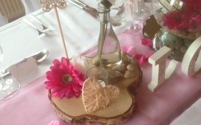 Wood Slice Centrepiece