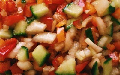 fresh diced salad in a delicious vinaigrette sauce