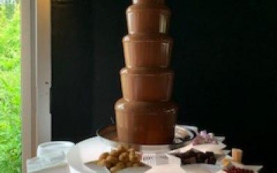6 tier chocolate fountain. Luxury belgian chocolate
