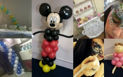 Balloons, Face Painting, Sweets