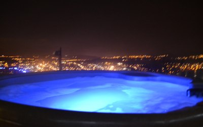 Hot Tub Lighting at Night