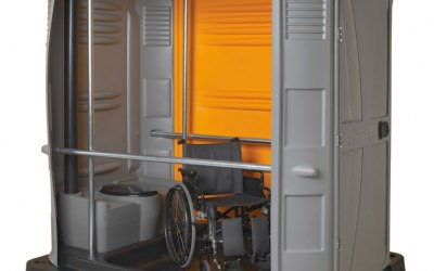Inside a disability unit, ours are Blue
