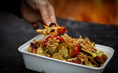 We offer a selection of Nachos such as slow-cooked beef and black bean chilli. All gluten-free.