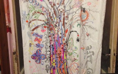 Fabric painting - ideal art for weddings