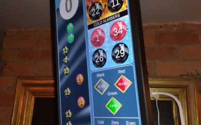 Our Roulette display system really adds to the Casino experience.