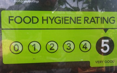 5 star rating from Bournemouth Council