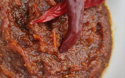 Homemade tomato and chilli jam