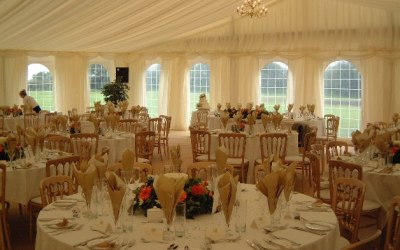 Marquee wedding caterers in Cheshire