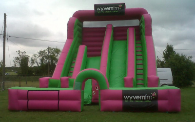 Pink &Green Multi-height Mega Slide