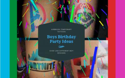 Boys Party Tattoos