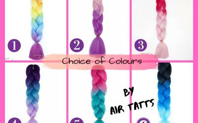 Coloured Hair choices for parties