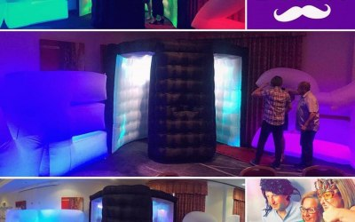 Half-Moon Inflatable LED Photo Booth