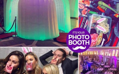 Wing-Dome Inflatable LED Photo Booth
