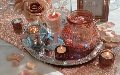 Rose gold centrepiece