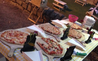 Wedding buffet ready to go