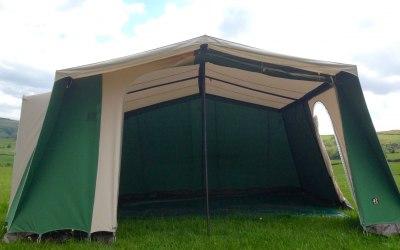 4mx4m cream & green event tent