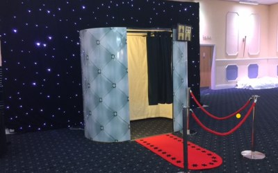 Photo Booth - Star lit curtain & Chesterfield Skins