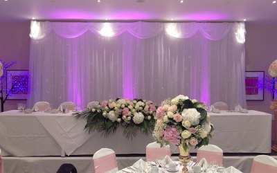 Add extra depth to your event with up-lighting