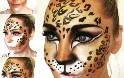 Dolly Cat Face Painting 7