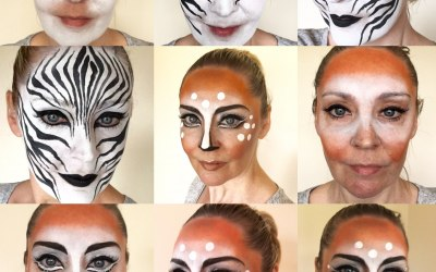 Dolly Cat Face Painting 8