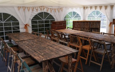 Jigsaw 36 Rustic style marquee package