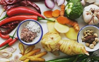 Fresh Thai ingredients