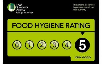 5 star food hygiene rate for 9 year