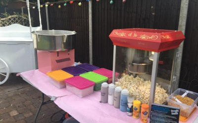 Candy Floss Machine and Pop Corn machines