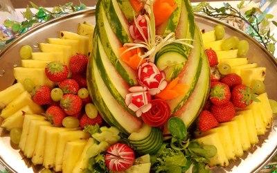 fruit carving as centre piece