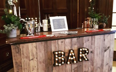 Our 6ft Dry HIre bar for your Event