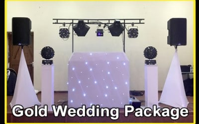 Gold Wedding Disco Package