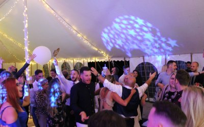 Festival style Wedding in a Marquee