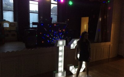 Giant LED 13th Birthday Numbers For Hire Sound Of Music Mobile Disco www.soundofmusicmobiledisco.com