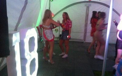 Giant LED 18th Birthday Numbers For Hire www.soundofmusicmobiledisco.com