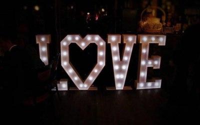 Giant LED LOVE Letters For Hire www.soundofmusicmobiledisco.com