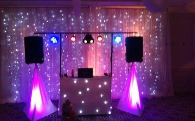 Mobile Disco Wedding DJ Set Up www.soundofmusicmobiledisco.com