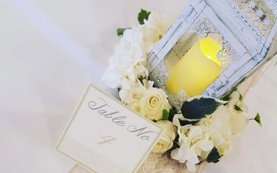 Table decorations and centre pieces,