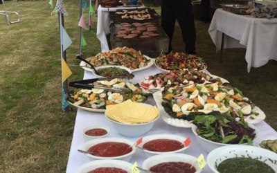 Barbecue catering marquee