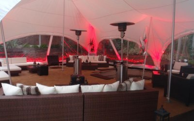 28 x 38 Capri Marquee with Rattan chill out area