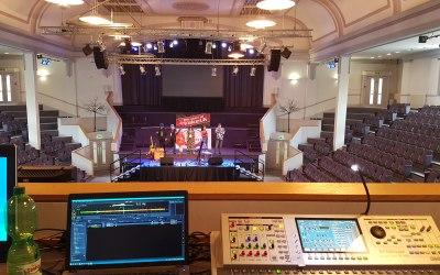 Live event sound and PA setup