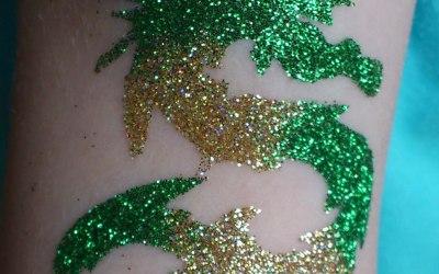 Glitter Tattoos. 1