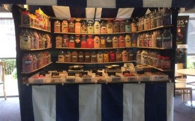 Inside sweet stall