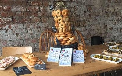 Bagels at a recent book launch