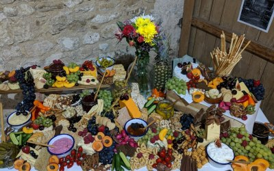 Grazing Table created by Flame BBQ for Wedding reception evening buffet.