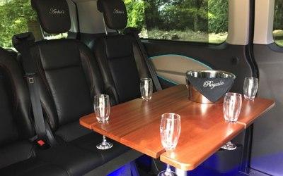 interior of luxury 8 passenger seater
