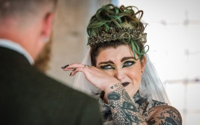 A unique Halloween wedding at The West Mill, Derby