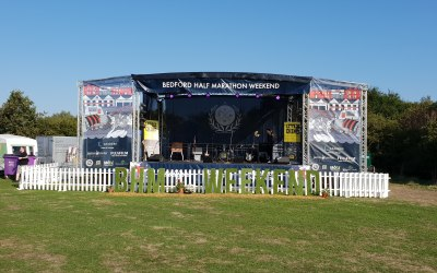 Full branded stage for summer events
